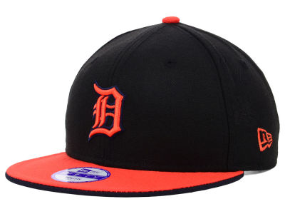 Detroit Tigers MLB Youth Black Team Flip 9FIFTY Snapback Cap Hats