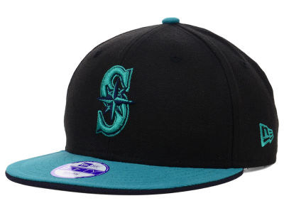 Seattle Mariners MLB Youth Black Team Flip 9FIFTY Snapback Cap Hats