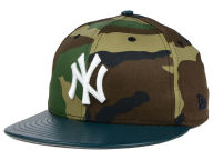 New Era MLB Camo Leather Pop 59FIFTY Cap Fitted Hats