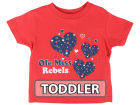 Mississippi Rebels NCAA Toddler Heart T-Shirt T-Shirts