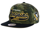 Pittsburgh Penguins Mitchell and Ness NHL Camo Tailsweep Snapback Hat Adjustable Hats