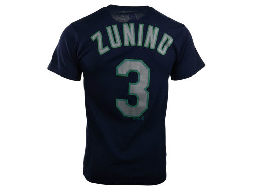 Seattle Mariners Mike Zunino Majestic MLB Men's Official Player T-Shirt