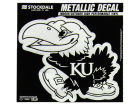 Kansas Jayhawks 3x6 Metallic Decal Bumper Stickers & Decals