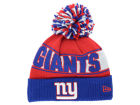 New York Giants New Era NFL Rep Your Team Pom Knit Hats