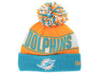 Miami Dolphins New Era NFL Rep Your Team Pom Knit Hats