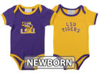 LSU Tigers NCAA Newborn 2 Pack Contrast Creeper Infant Apparel