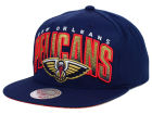 New Orleans Pelicans Mitchell and Ness NBA Teamstand Arch Snapback Cap Adjustable Hats