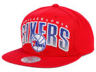Philadelphia 76ers Mitchell and Ness NBA Teamstand Arch Snapback Cap Adjustable Hats