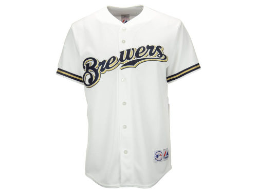 Milwaukee Brewers Majestic MLB Men's Blank Replica Jersey