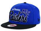 Middle Tennessee State Blue Raiders New Era NCAA Team Script 9FIFTY Snapback Cap Adjustable Hats