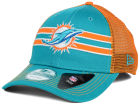 Miami Dolphins New Era NFL Frontband Trucker XP 9FORTY Cap Adjustable Hats