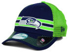 Seattle Seahawks New Era NFL Frontband Trucker 9FORTY Cap Adjustable Hats