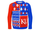 Kansas Jayhawks Forever Collectibles NCAA Men's Busy Block Ugly Sweater Sweatshirts