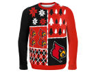 Louisville Cardinals Forever Collectibles NCAA Men's Busy Block Ugly Sweater Sweatshirts