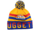 Denver Nuggets Mitchell and Ness NBA Trifecta Cuffed Pom Knit Hats