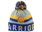 San Francisco Warriors  Mitchell and Ness NBA Trifecta Cuffed Pom Knit Hats