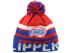 Los Angeles Clippers Mitchell and Ness NBA Trifecta Cuffed Pom Knit Hats