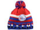 Philadelphia 76ers Mitchell and Ness NBA Trifecta Cuffed Pom Knit Hats