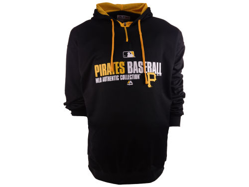 Pittsburgh Pirates Majestic MLB Men's 1/4 Zip Poly Hoodie 3X-4X