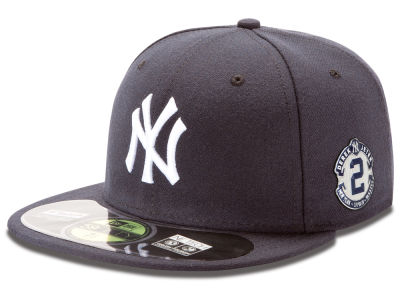 New York Yankees MLB Derek Jeter On Field AC Metallic Side Patch 59FIFTY Cap Hats