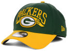 Green Bay Packers New Era NFL Major Arch Classic 39THIRTY Cap Stretch Fitted Hats