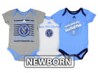 New York City FC adidas MLS Newborn 3 Goals Bodysuit Set Infant Apparel