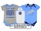 New York City FC adidas MLS Infant 3 Goals Bodysuit Set Infant Apparel