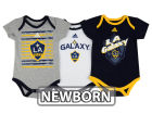 LA Galaxy adidas MLS Newborn 3 Goals Bodysuit Set Infant Apparel