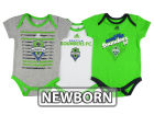 Seattle Sounders FC adidas MLS Newborn 3 Goals Bodysuit Set Infant Apparel