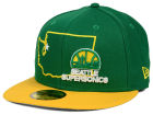 Seattle SuperSonics New Era NBA HWC States 59FIFTY Cap Fitted Hats