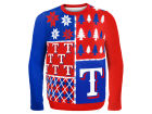 Texas Rangers Forever Collectibles MLB Men's Busy Block Ugly Sweater Sweatshirts
