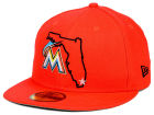 Miami Marlins New Era MLB States 59FIFTY Cap Fitted Hats