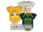 Oakland Athletics Majestic MLB Newborn Girls TP Bodysuit Set Infant Apparel