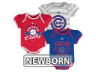 Chicago Cubs Majestic MLB Newborn Girls TP Bodysuit Set Infant Apparel