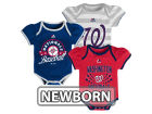 Washington Nationals Majestic MLB Newborn Girls TP Bodysuit Set Infant Apparel