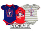 Texas Rangers Majestic MLB Newborn Girls Bodysuit Set Infant Apparel