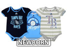 Tampa Bay Rays Majestic MLB Newborn Girls TP Bodysuit Set Infant Apparel