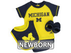 Michigan Wolverines adidas NBA Newborn Set Infant Apparel