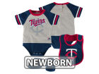 Minnesota Twins Majestic MLB Newborn LP Creeper Bib and Bootie Set Infant Apparel