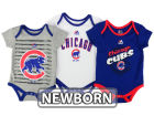 Chicago Cubs Majestic MLB Newborn  TP 3-Piece Set Infant Apparel