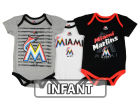 Miami Marlins Majestic MLB Infant Team Player 3-piece Set Infant Apparel