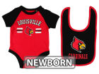Louisville Cardinals Colosseum NCAA Newborn Dribble Creeper and Bib Set Infant Apparel