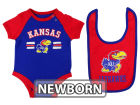 Kansas Jayhawks Colosseum NCAA Newborn Dribble Creeper and Bib Set Infant Apparel