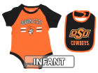 Oklahoma State Cowboys Colosseum NCAA Infant Dribble Onesie & Bib Set Infant Apparel