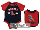 Mississippi Rebels Colosseum NCAA Infant Dribble Onesie & Bib Set Infant Apparel