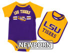 LSU Tigers Colosseum NCAA Newborn Dribble Creeper and Bib Set Infant Apparel