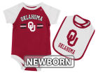Oklahoma Sooners Colosseum NCAA Newborn Dribble Creeper and Bib Set Infant Apparel