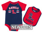 Mississippi Rebels Colosseum NCAA Newborn Dribble Creeper and Bib Set Infant Apparel