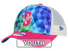 Seattle Mariners New Era MLB Youth Gem Trucker 9FORTY Cap Adjustable Hats