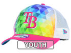 Tampa Bay Rays New Era MLB Youth Gem Trucker 9FORTY Cap Adjustable Hats